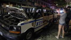 Полицейски джип гази протестиращи в Ню Йорк