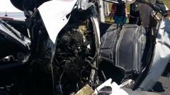 """Тежка катастрофа на АМ """"Тракия"""", шофьорът е загинал"""