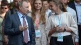 Путин и Медведев на визита в Крим