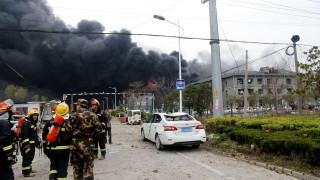 Повече от 40 са жертвите и 600 ранените след взрива в китайски завод