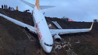 Самолет излезе от турска писта със 162-ма пътници на борда