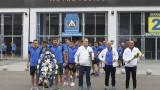 Левски поднесе венци пред паметника на Георги Аспарухов