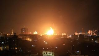 Израел удари Газа след палестинско ракетно нападение