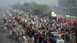 Хаос в Ню Делхи по време на протест на фермери