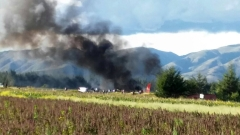 Перуански самолет с 141 души на борда погълнат от пламъци