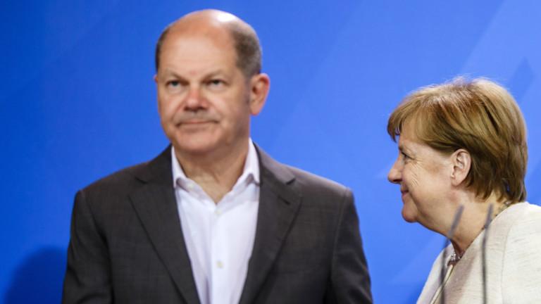 Германският вицеканцлер и министър на финансите Олаф Шолц заяви, че