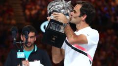 Роджър Федерер победи в пет сета Марин Чилич на финала на Australian Open 2018