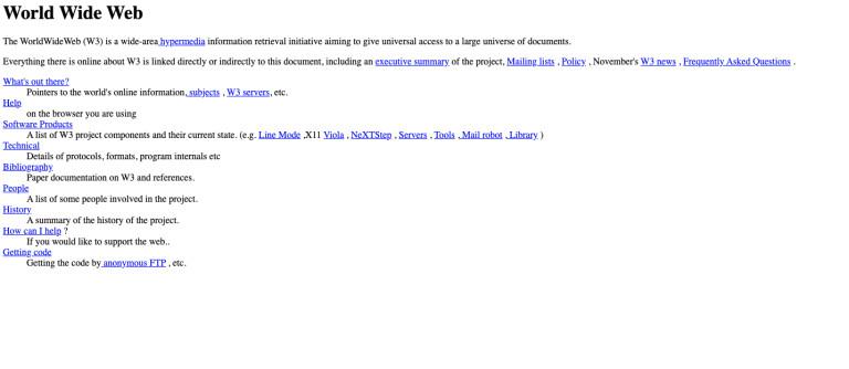 Така изглежда първата уеб страница, пусната през 1992 г.