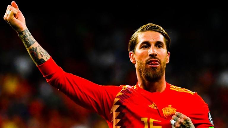 Централният защитник Серхио Рамос - голмайстор и капитан на Испания