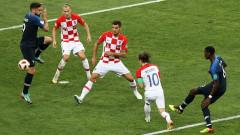 Франция - Хърватия 4:2 (Развой на срещата по минути)