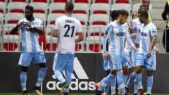 Лацио вкара три гола на Ница и свали Балотели и компания от върха