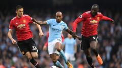 Манчестър Сити - Манчестър Юнайтед 2:3 (Развой на срещата по минути)