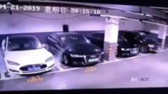 Tesla Model S се самозапали в подземен паркинг