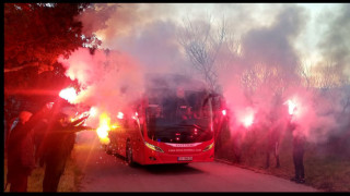 Фенове на ЦСКА поздравиха своите любимци и пожелаха успех на Бруно Акрапович