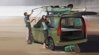Volkswagen разкри чертежите на новия пълен с технологии за живот на открито Caddy Mini Camper