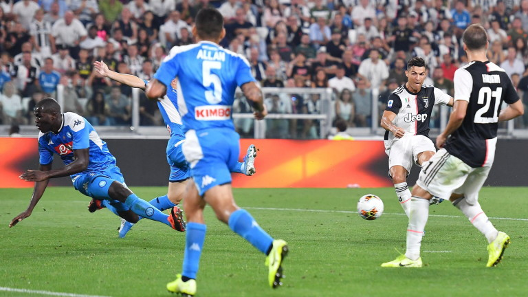 Наполи - Ювентус 2:1, гол на Роналдо