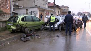 Катастрофа в Казанлък днес се размина по чудо без жертви