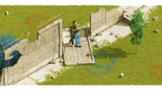 """""""Гугъл"""" отбеляза 30 години от падането на Берлинската стена"""