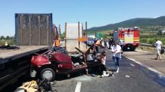 """Прокуратурата в Ихтиман разследва тежката катастрофа на АМ """"Тракия"""""""