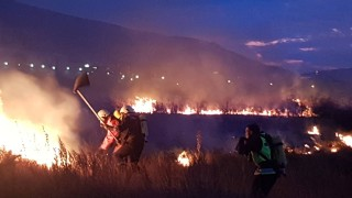 """Голям пожар на 500 метра от летище """"София"""""""