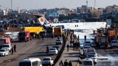 Самолет на Caspian Airlines се приземи насред град в Иран