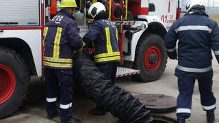Пожар пламна в близост до газостанция в Пловдивско
