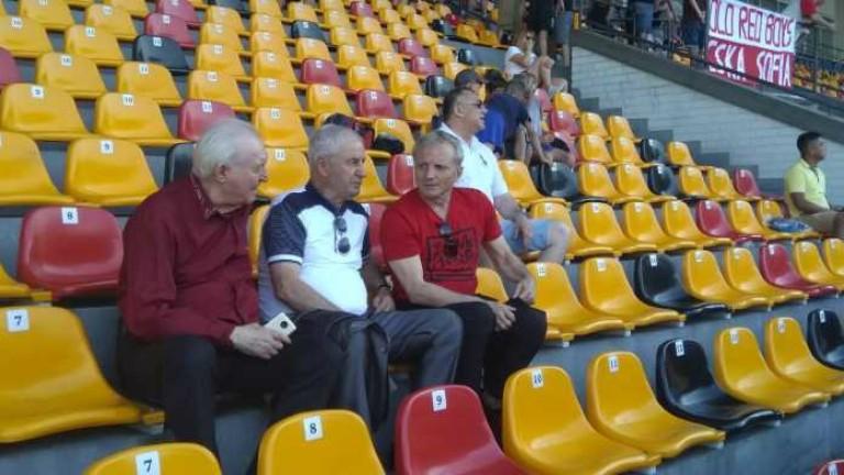 Гриша Ганчев изгледа официалната тренировка на ЦСКА
