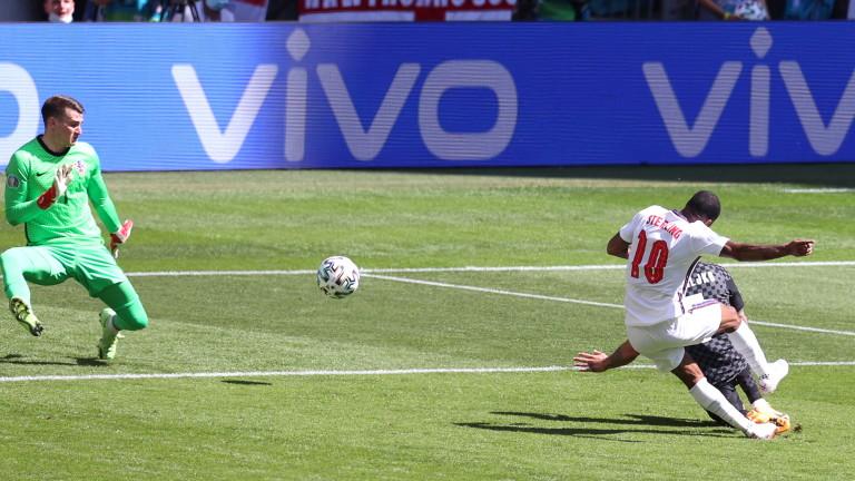 Англия - Хърватия 1:0 (Развой на срещата по минути)