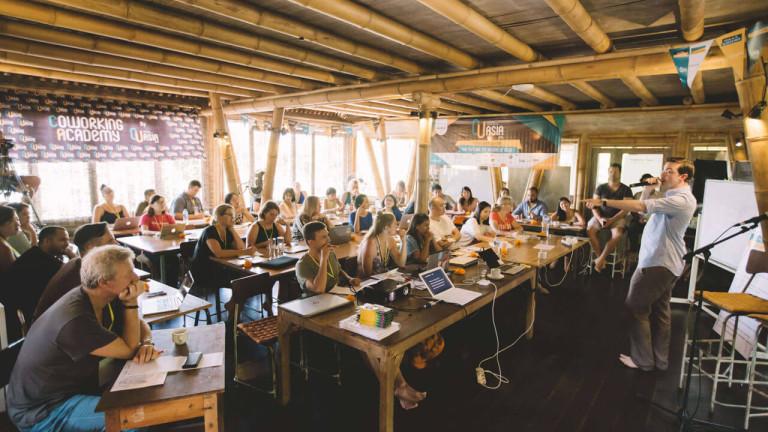 Hubud е сред най-известните пространства за споделена работа на острова.