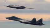 """Руският дрон """"Ловец"""" извърши първия си полет в тандем със Су-57"""