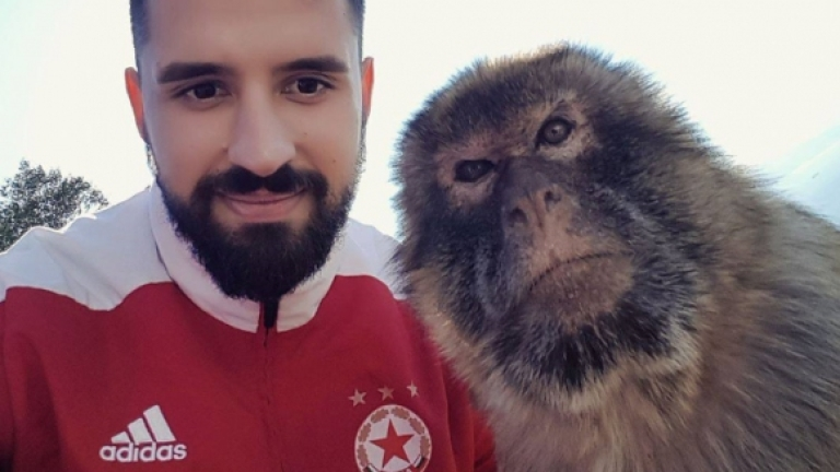 ЦСКА-София при маймуните Маготи в Гибралтар (СНИМКИ)