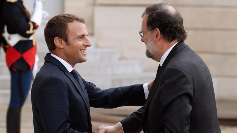 Макрон подкрепи конституционното единство на Испания