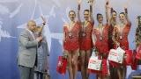Министър Кралев награди ансамбъла по художествена гимнастика (ГАЛЕРИЯ)
