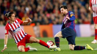 Барселона матира десет от Атлетико с два бързи гола в края