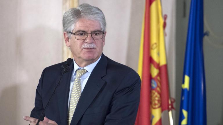 """Речта на Пучдемон беше """"трик"""", убеден топ дипломатът на Испания"""