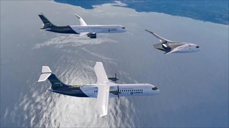 Airbus обяви плановете си за първите модели пътнически самолети с
