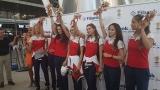 """""""Златните момичета"""" тръгнаха към Рио (СНИМКИ)"""
