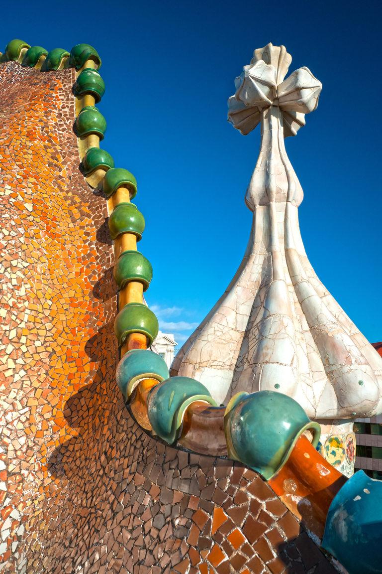 Casa Batlló, на покрива