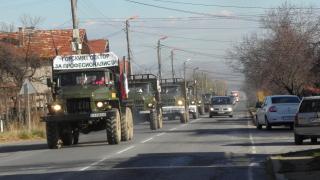 Лесовъди излязоха на протестно автошествие с над 80 камиона в Кюстендил