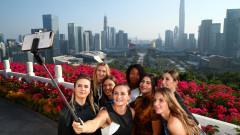 Участничките във финалния турнир на WTA си направиха атрактивна фотосесия