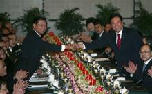 Китай и Тайван стиснаха ръце в името на икономиката