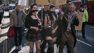 Протест в защита на порното в Лондон