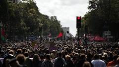 Насилие на първия голям протест срещу Макрон