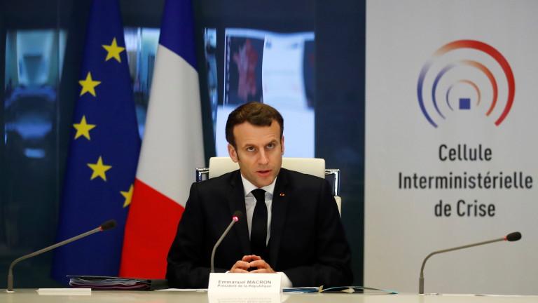 Макрон прогнозира: Франция е в началото на кризата с коронавируса