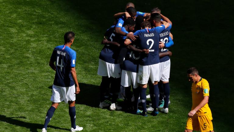 Франция 1 : 2 Австралия 84′ Арзани е последната смяна