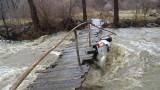 Река Места отнесе мост, изграден преди 2 години