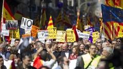 """Хиляди в Барселона казаха """"не"""" на независимостта на Каталуния"""
