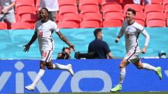 Англия - Хърватия 1:0, попадение на Стърлинг