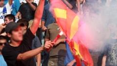 Македонското знаме изгорено в Прищина