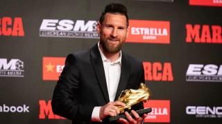 """Лео Меси получи рекордната си шеста """"Златна обувка"""""""